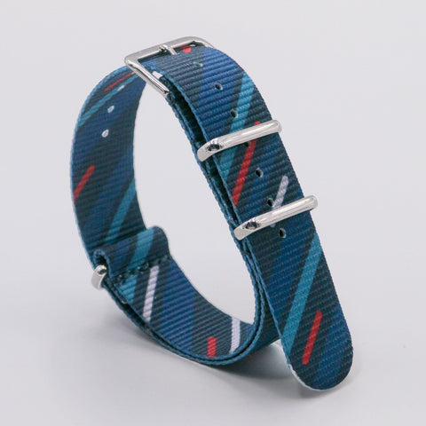 Bracelete Vario Graphic Nato Midnight Comet Blue