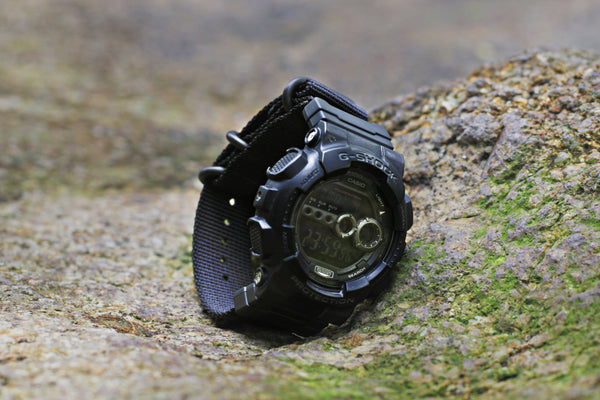 gshock with vario ballistic nylon nato strap kit
