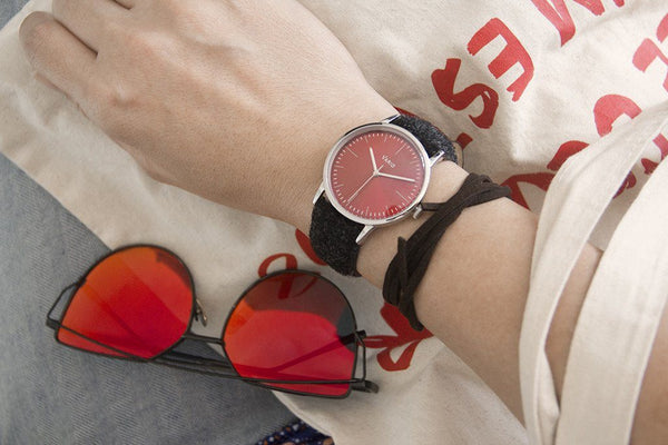 eclipse red dress watch 38mm