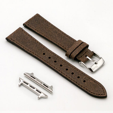 vario distressed italian leather watch band