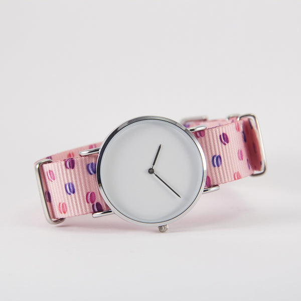 vario macaron dots nato strap with watch