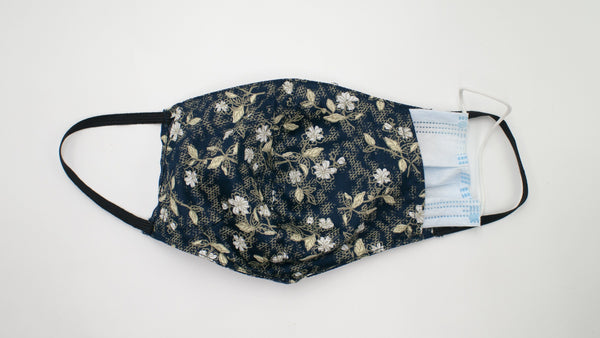Cotton Mask Blue Floral
