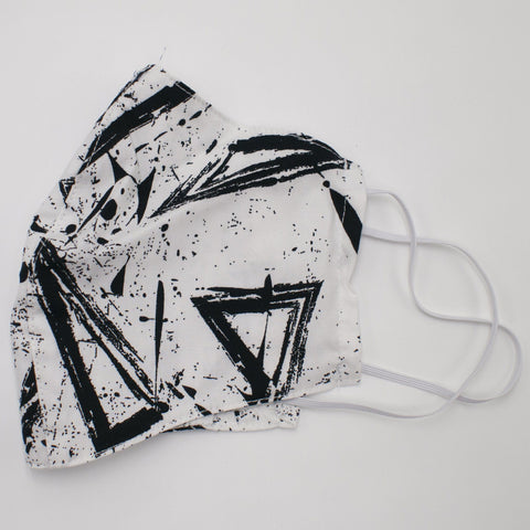 Cotton Mask White Abstract