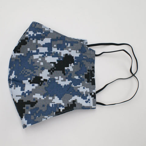 Cotton Mask Blue Camo
