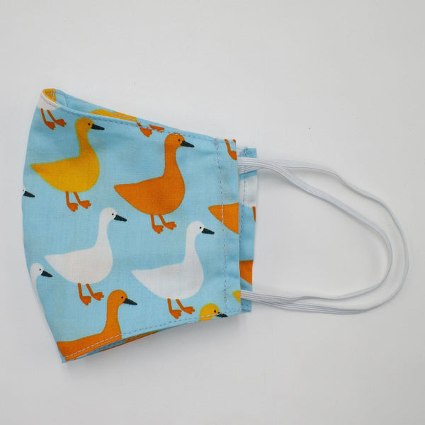 Cotton Mask Blue Duck (Children under 7)