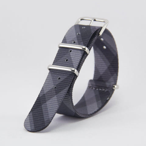 vario mono plaid graphic nato strap vegan friendly