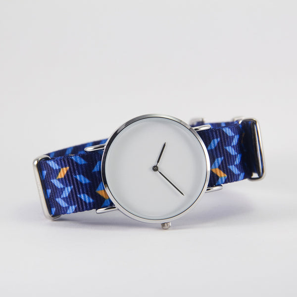 vario ocean chevron nato strap with watch