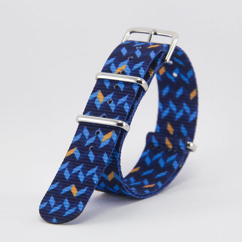 vario ocean chevron graphic nato strap vegan friendly