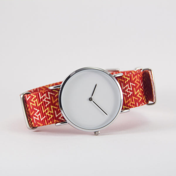 vario orange tangy nato strap with watch