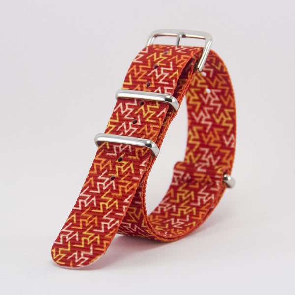 vario orange tangy graphic nato strap vegan friendly