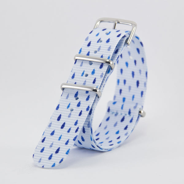 vario raindrops graphic nato strap vegan friendly