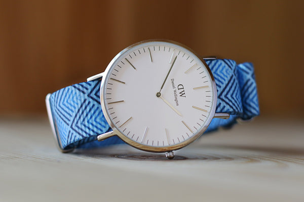 vario sky pyramid nato strap with daniel wellington watch