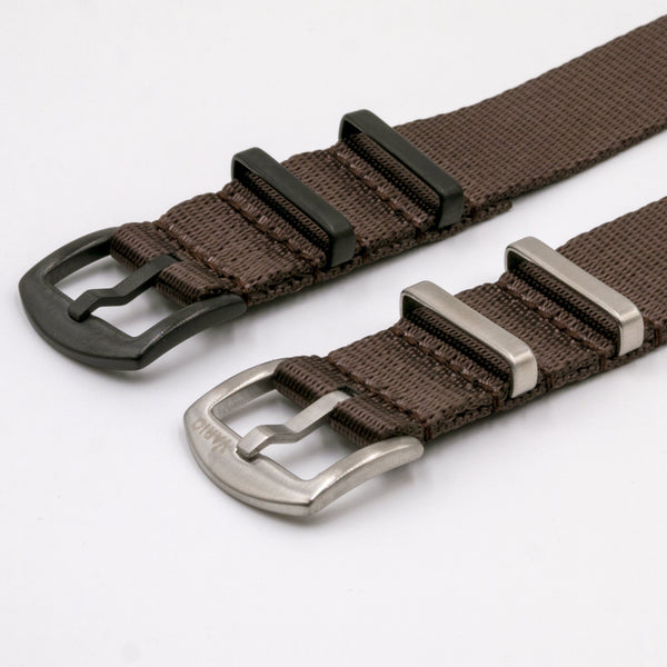 vario gshock seat belt nato adapter kit chocolate brown silver black adapter
