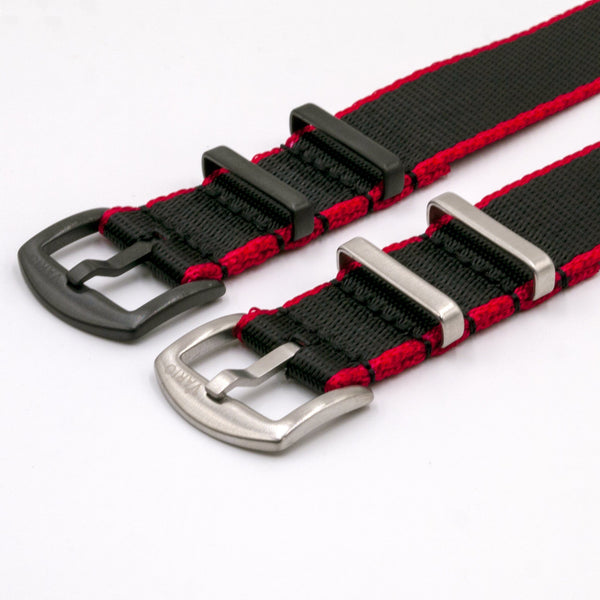 gshock vario seat belt nato adapter kit red and black silver and black buckle