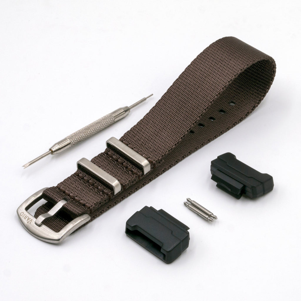 vario gshock seat belt nato adapter kit chocolate brown