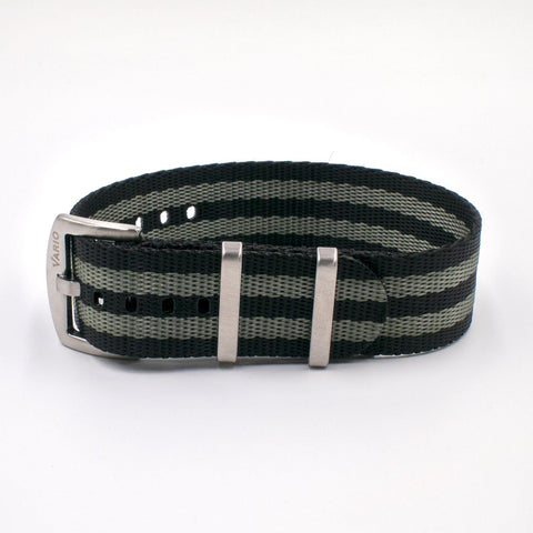 Vario Seat Belt Single Pass Nato Watch Strap bond mono stripe