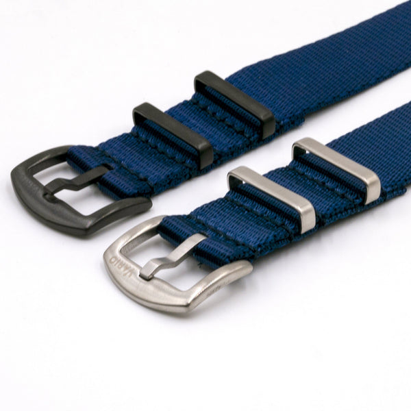 vario gshock seat belt nato adapter kit navy blue silver black buckle