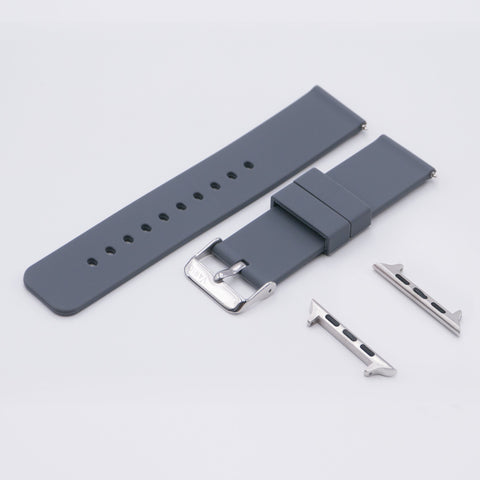 vario quick release silicone rubber watch strap for apple watch