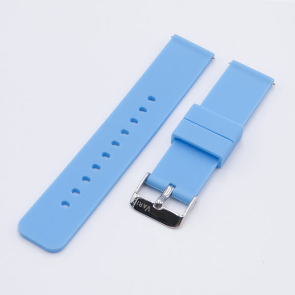 vario blue quick release silicone watch strap