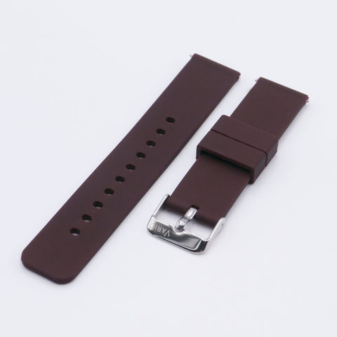 vario brown quick release silicone watch strap
