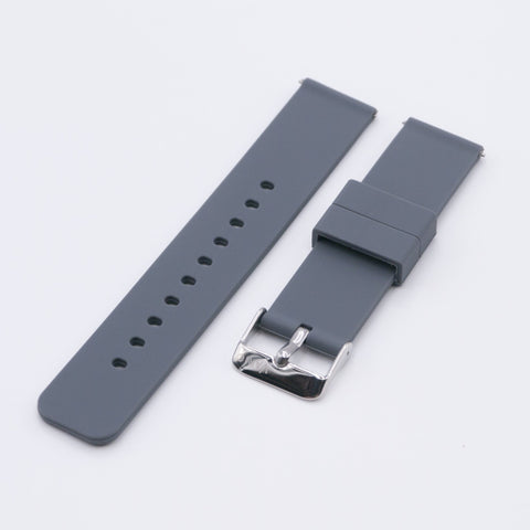 vario dark grey silicone rubber watch strap