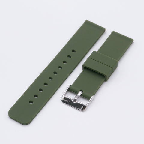 vario green quick release silicone watch strap
