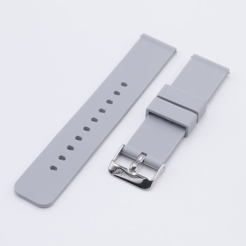 vario light grey silicone rubber watch strap
