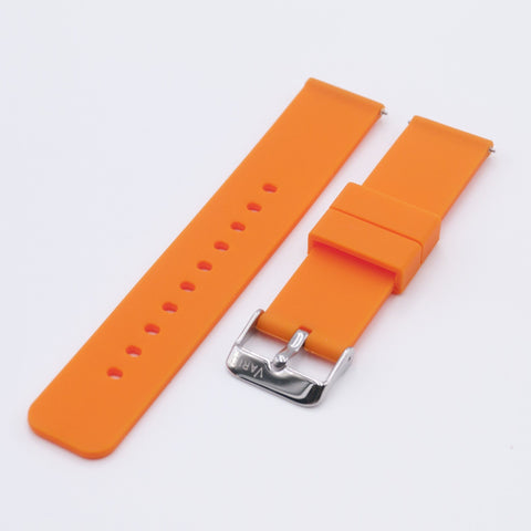 vario bright orange quick release silicone watch strap