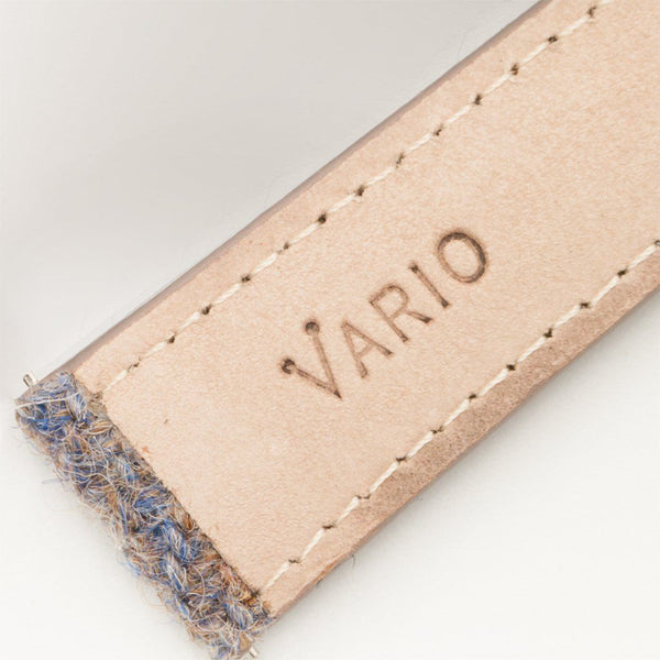 véritable dos souple en cuir tweed vario harris