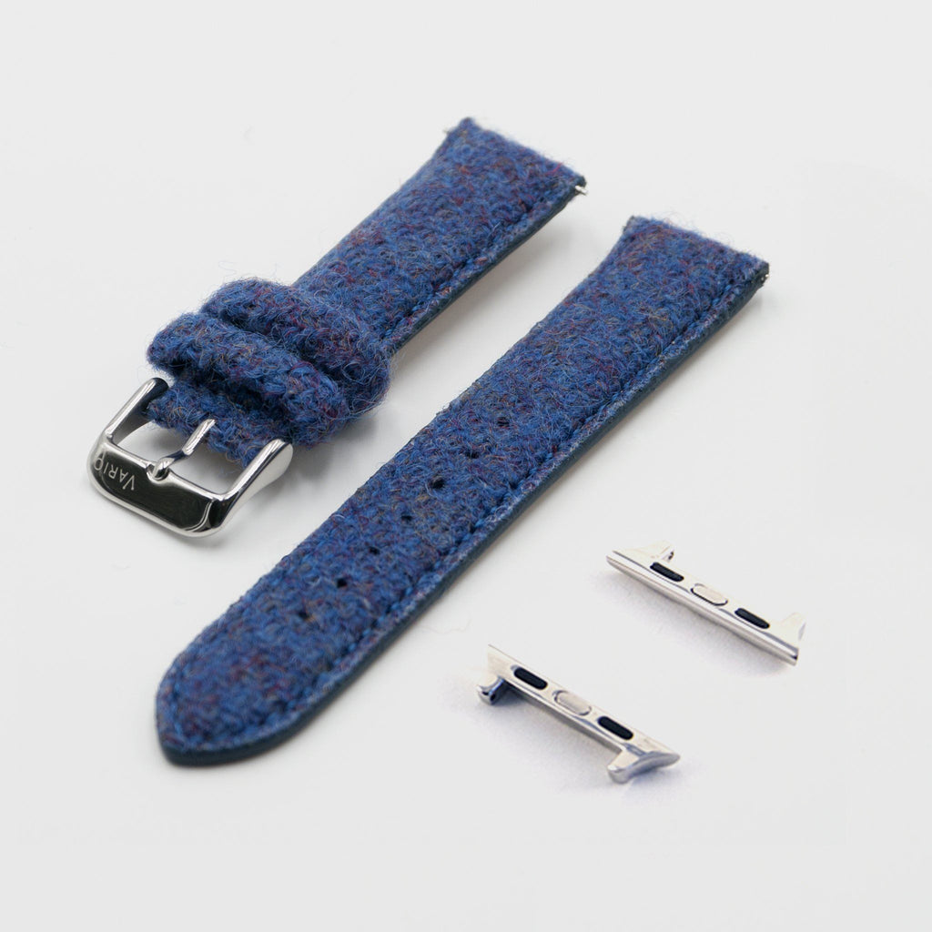 blue harris tweed strap for apple watch