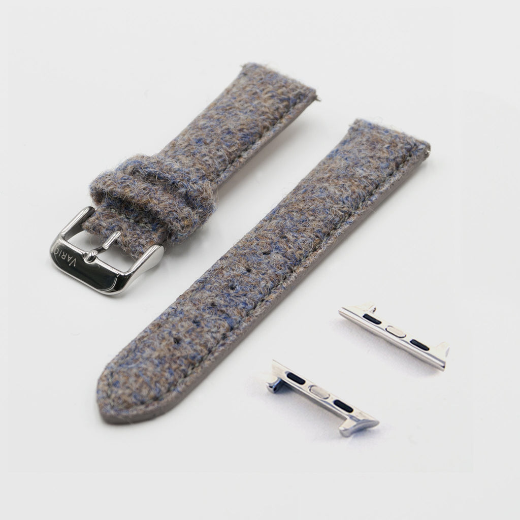 Harris Tweed Oatmeal Brown Watch Strap for 38mm 42mm Apple Watch