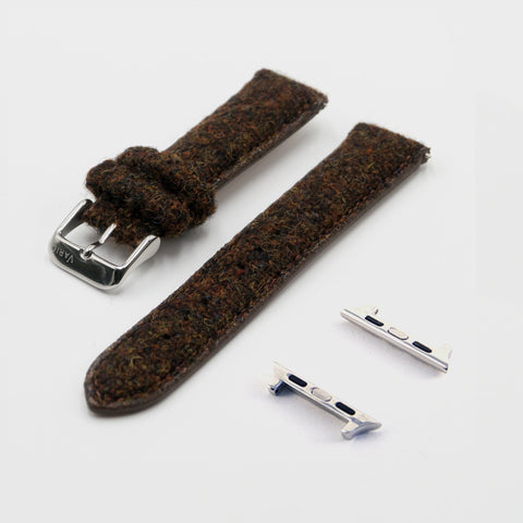 brown vario harris tweed strap for apple watch