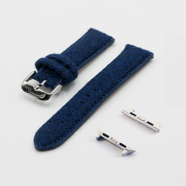 Vario Harris Tweed Navy Blue Watch Strap