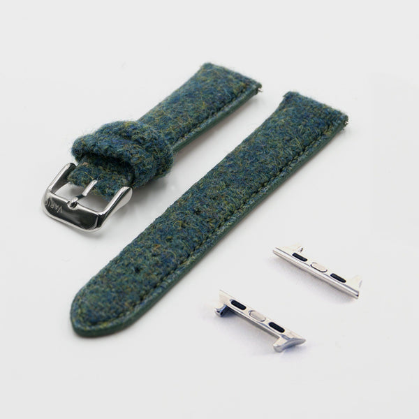 green harris tweed strap for apple watch