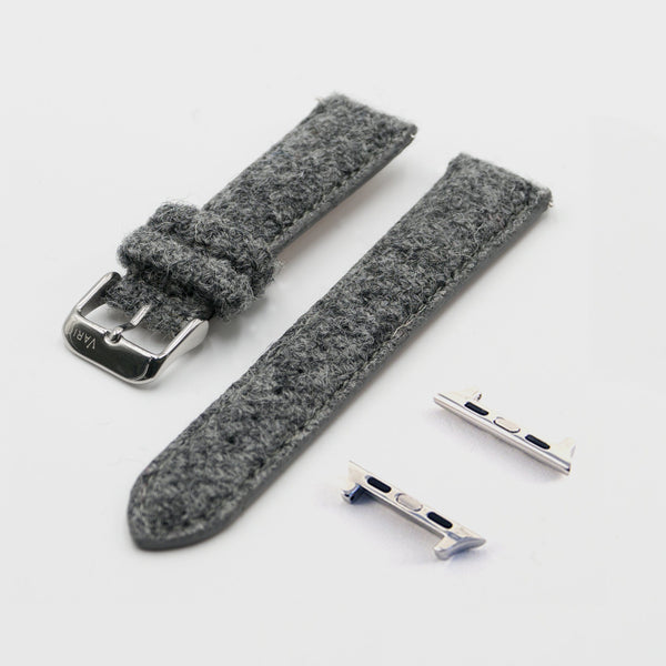 grey harris tweed strap for apple watch