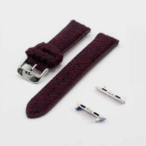red vario harris tweed for apple watch