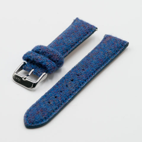 tali jam tangan vario harris tweed 18mm 20mm 22mm biru