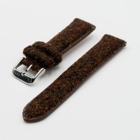 vario harris tweed watch strap 18mm 20mm 22mm brown