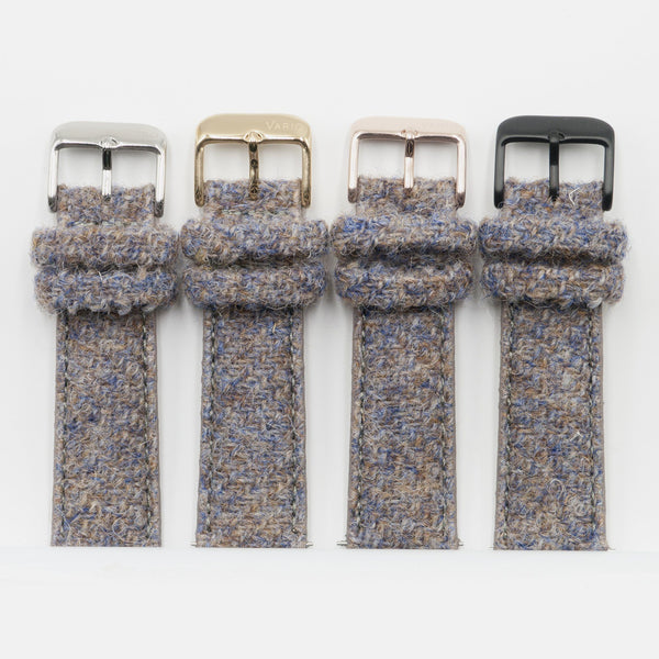 Harris Tweed Oatmeal Brown Watch Strap for 38mm 42mm Apple Watch with different buckles