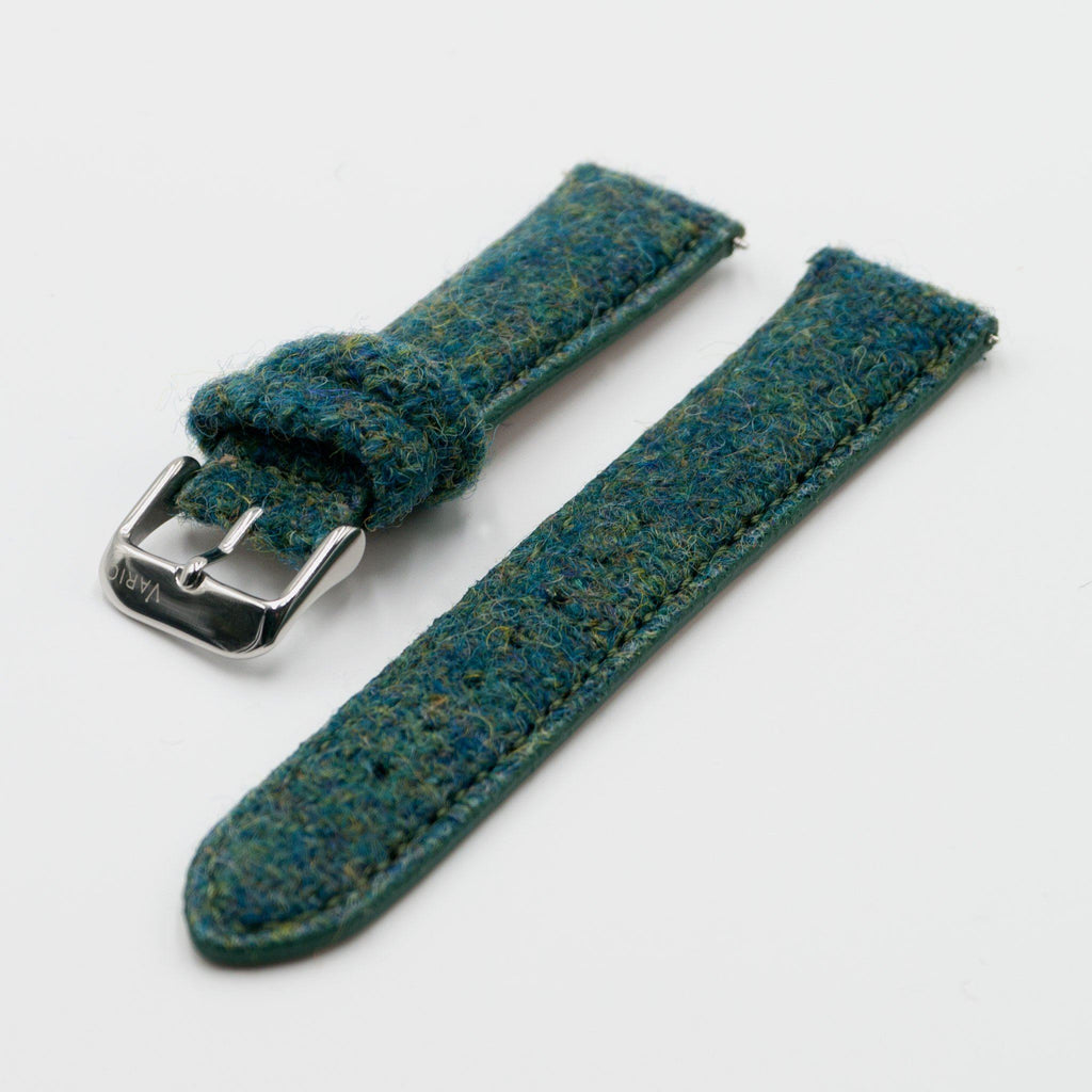 Harris Tweed Peacock Green Watch Strap