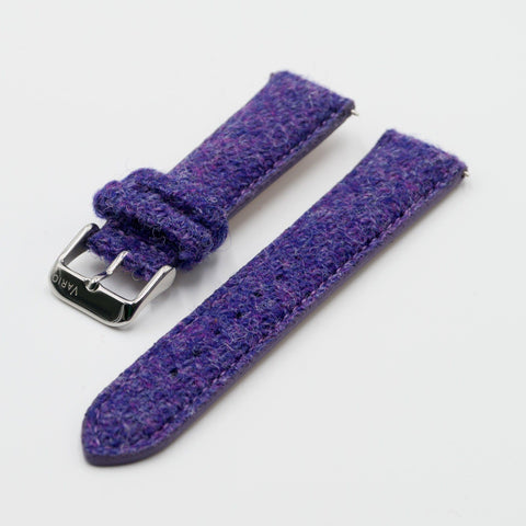 tali jam tangan harris tweed 18mm 20mm 22mm ungu