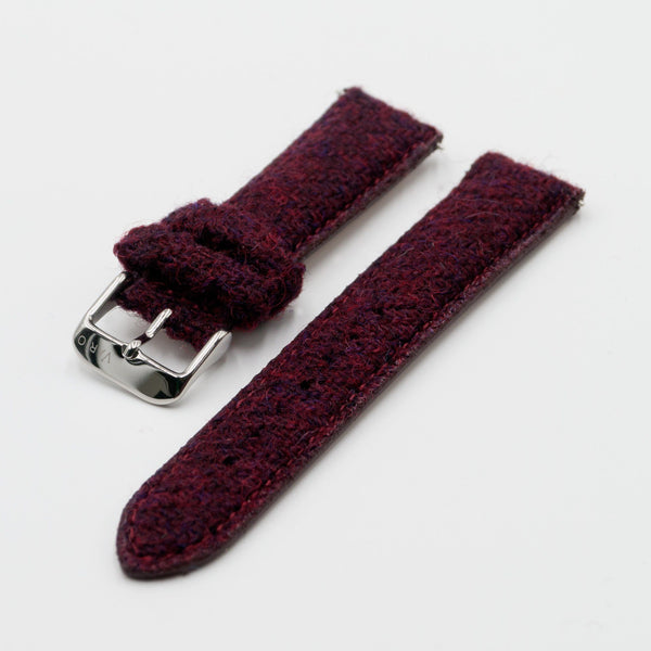 Harris Tweed Merlot Red Watch Strap