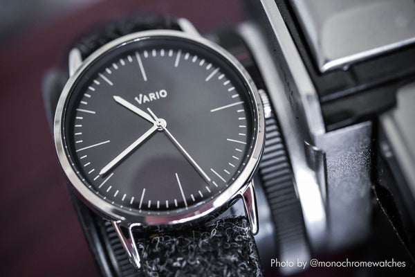 vario eclipse vintage inspired dress watch