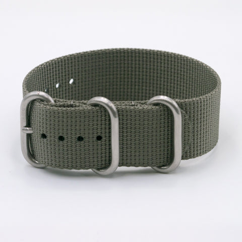 vario ballistic nylon ash grey vegan friendly maratac zulu nato watch strap band