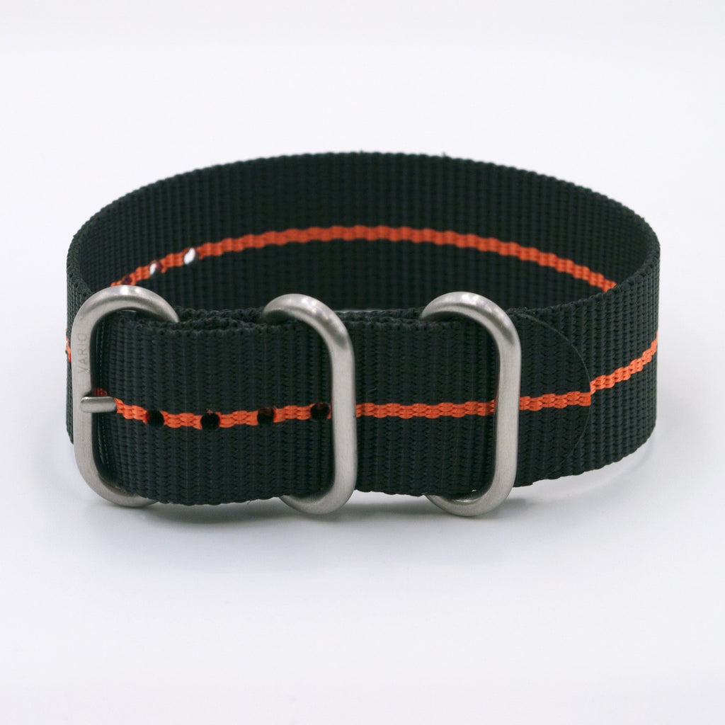 vario ballistic nylon orange streifen maratac nato single pass uhrenarmband