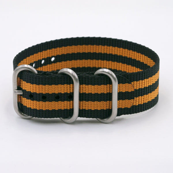 vario ballistic nylon orange stripe maratac nato single pass watch strap