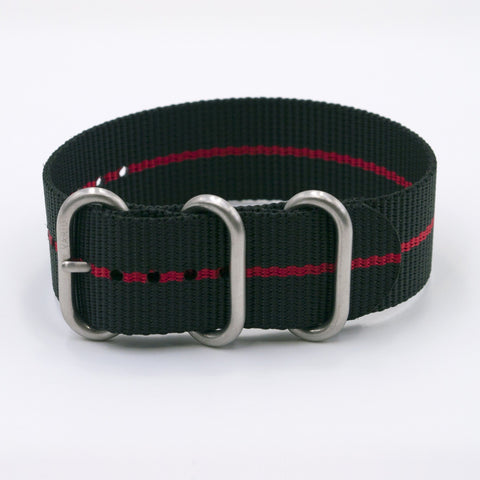 vario ballistic red stripe nato zulu watch strap