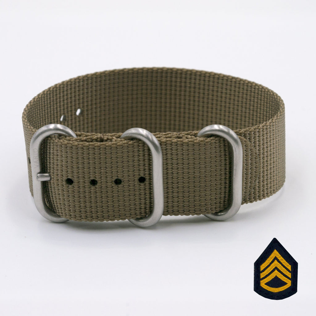 vario ballistic nylon watch band staff sergeant