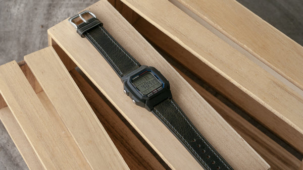 Casio W-800H leather watch strap