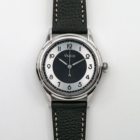 vario empire black tuxedo lume dress watch nh38a seiko automatic